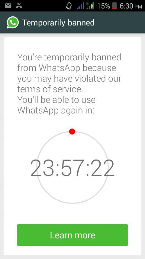 WhatsApp is banning 3rd party apps and blocking users for 24 hours