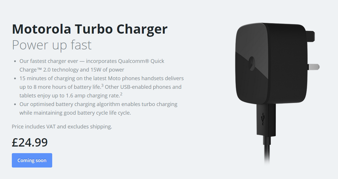 Motorola's Turbo Charger is coming soon to the UK for £24 ...