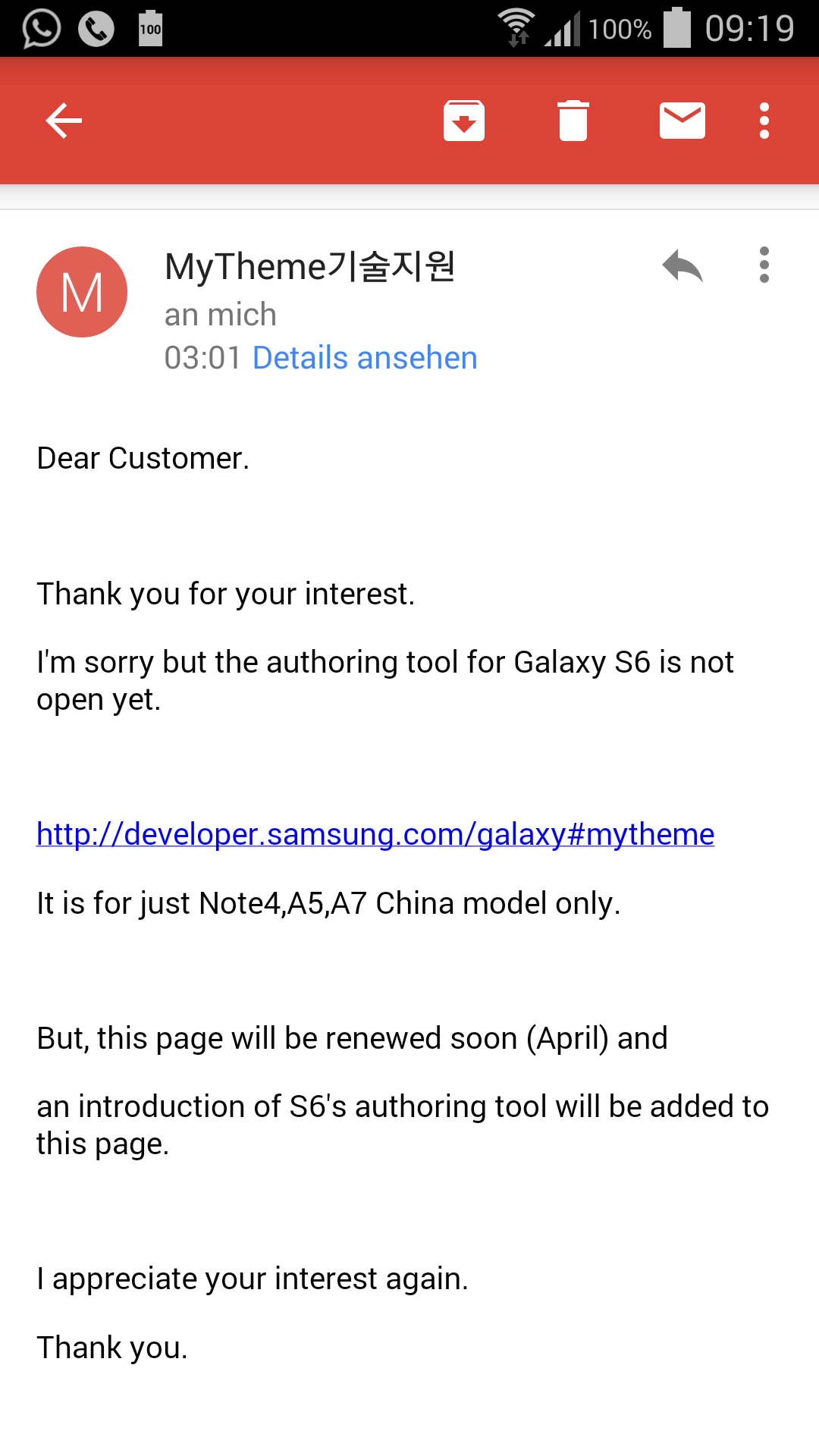 Samsung will release a theming tool for Galaxy S6 sometime in April