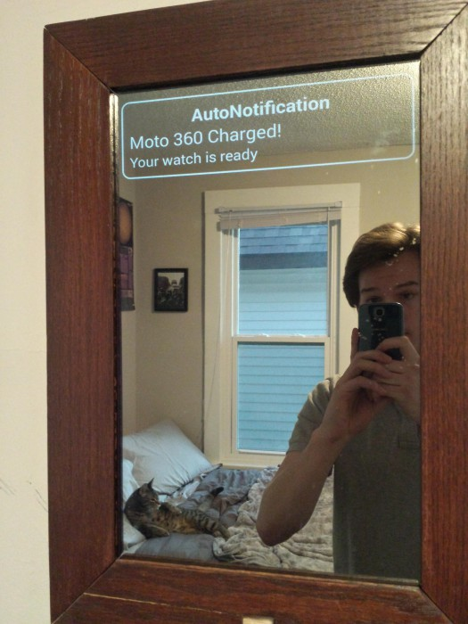 Redditor Builds Smart Mirror That Displays Android Wear