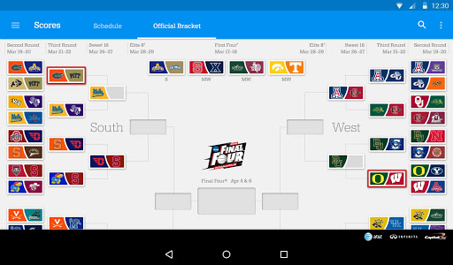 NCAA March Madness Live app updated for 2015