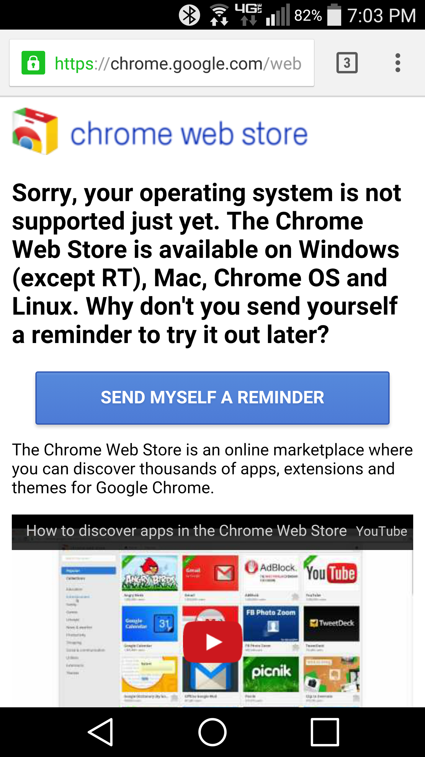 Google Says Mobile Chrome Browser Not Getting Support For
