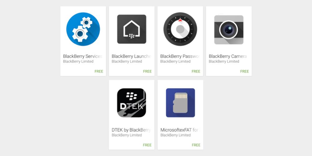 Wide list of BlackBerry apps get published on Google Play