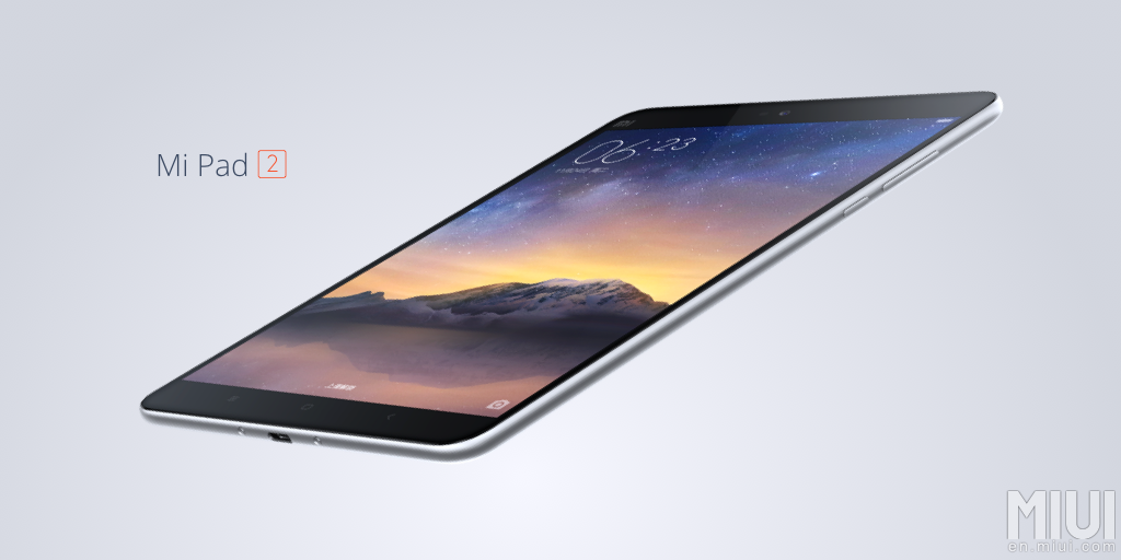 Xiaomi Announces The Mi Pad 2 Tablet In China With An