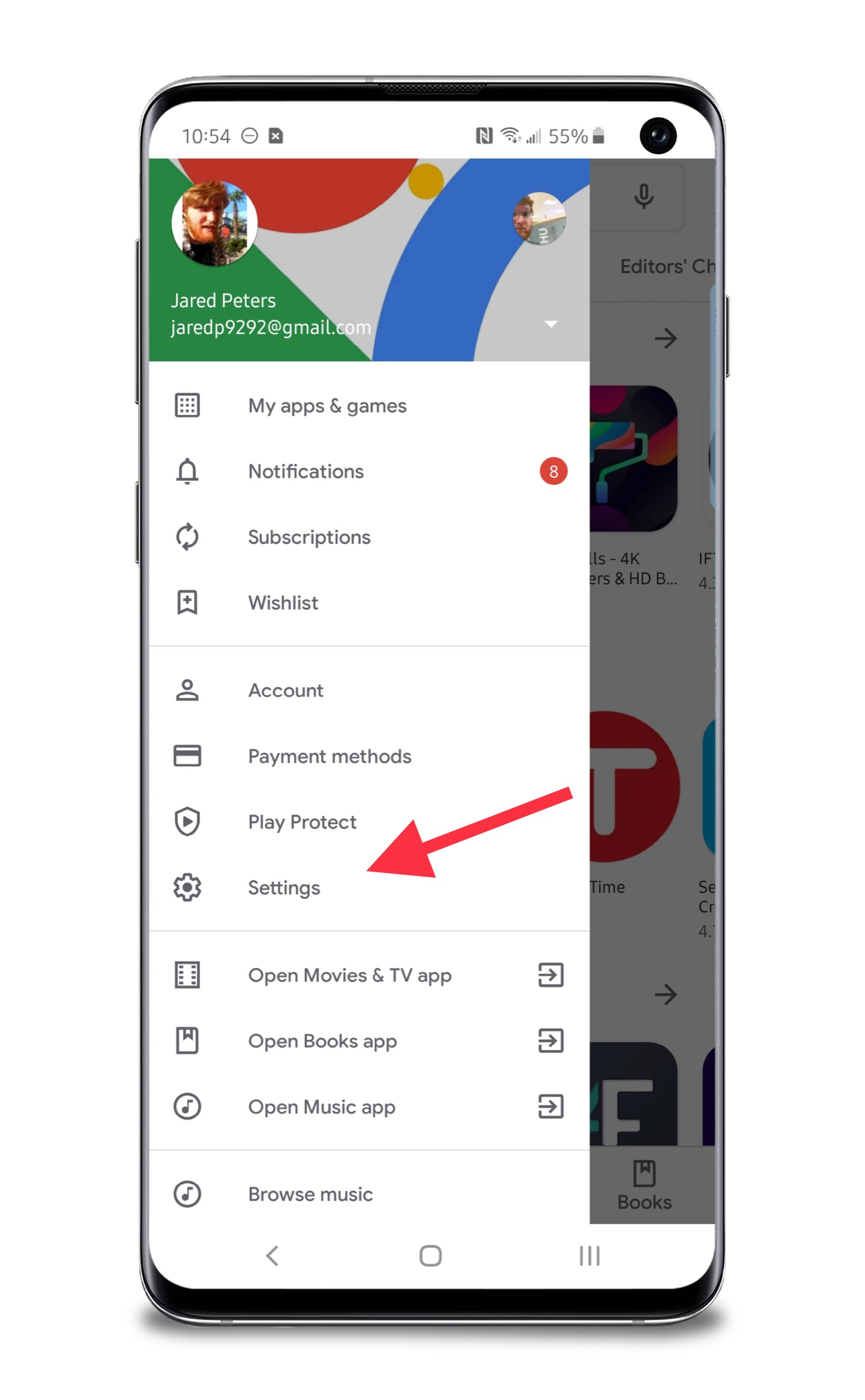 Adding password protection to Google Play for preventing
