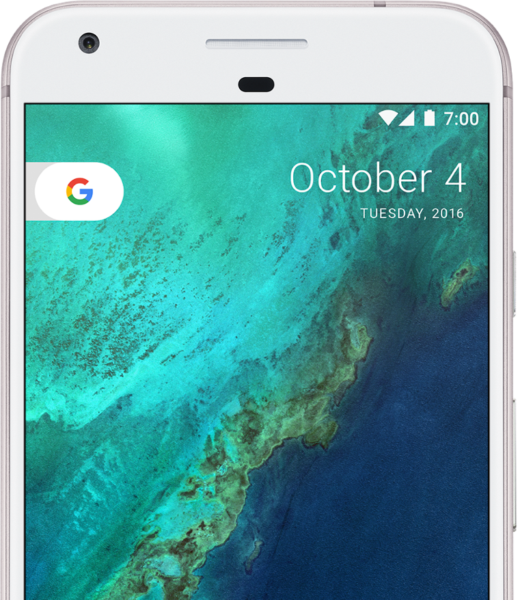 google_pixel_very_silver_front_top