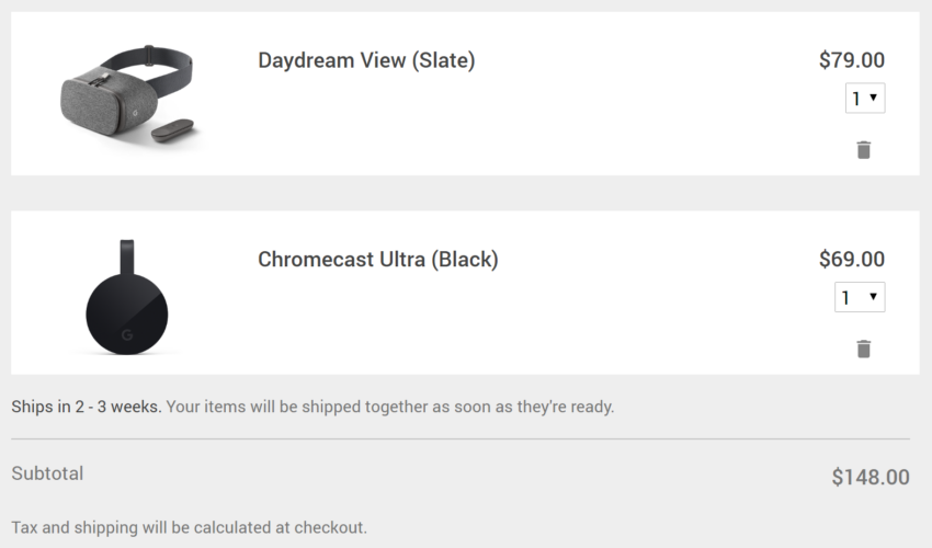 google_store_order_daydream_view_chromecast_ultra_shipping_time