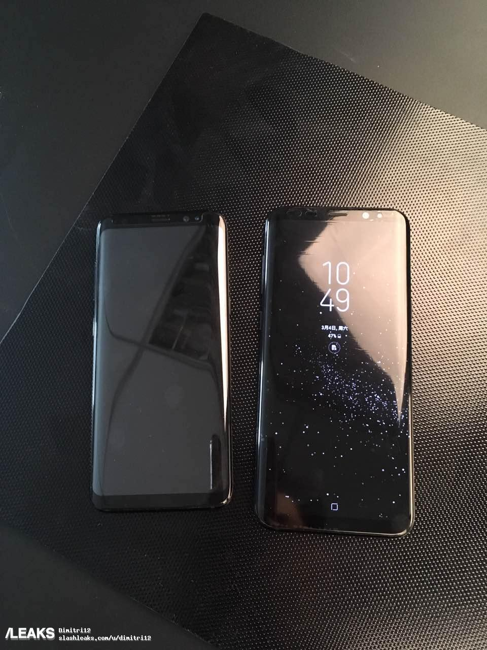 Here's the Samsung Galaxy S8 in black