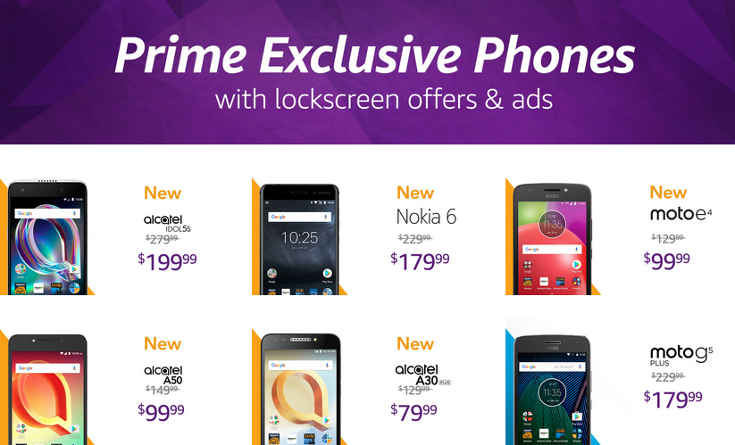 Amazon gets Prime Exclusive flavors of the Nokia 6, Moto E4, and
