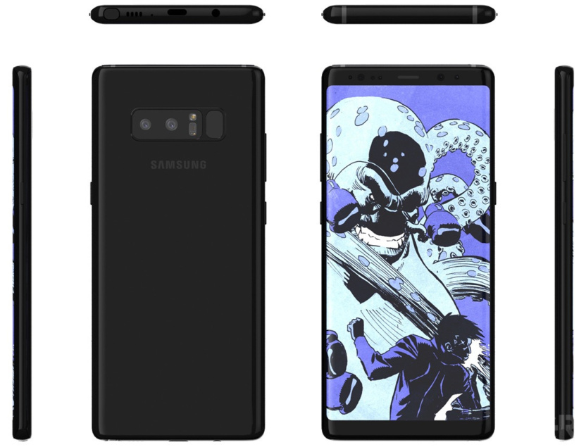 Unofficial Galaxy Note 8 render confirms design