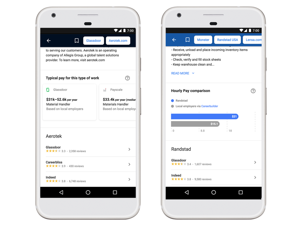 Google adds new tools to help you find a better job