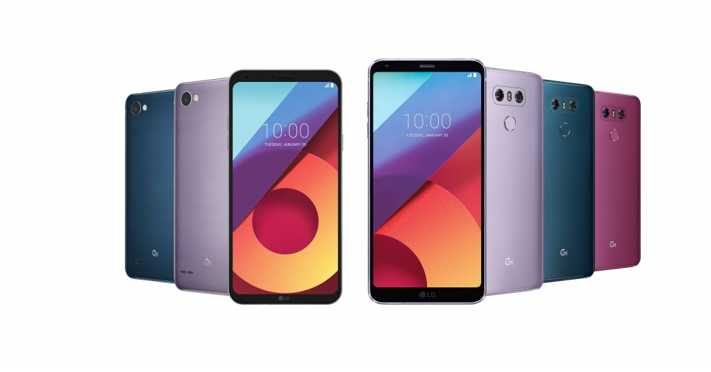 LG announces Moroccan Blue and Lavender Violet for the G6 and Q6