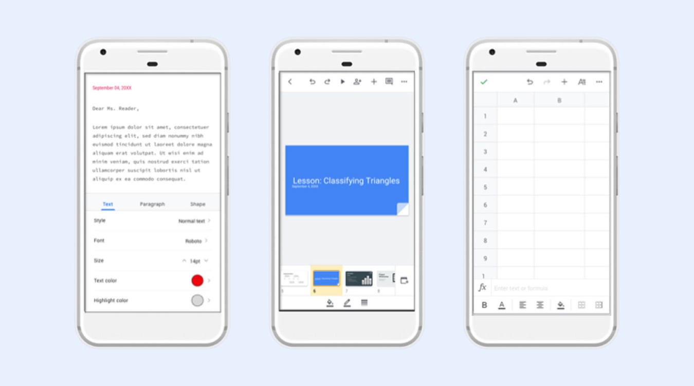 Google updates Docs, Sheets and Slides with a more uniform look